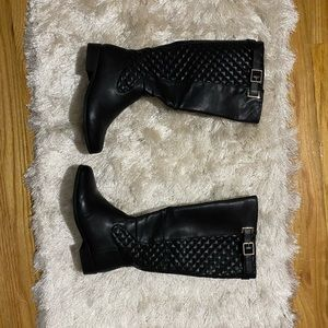 Shoe dazzle wide calf tall boots